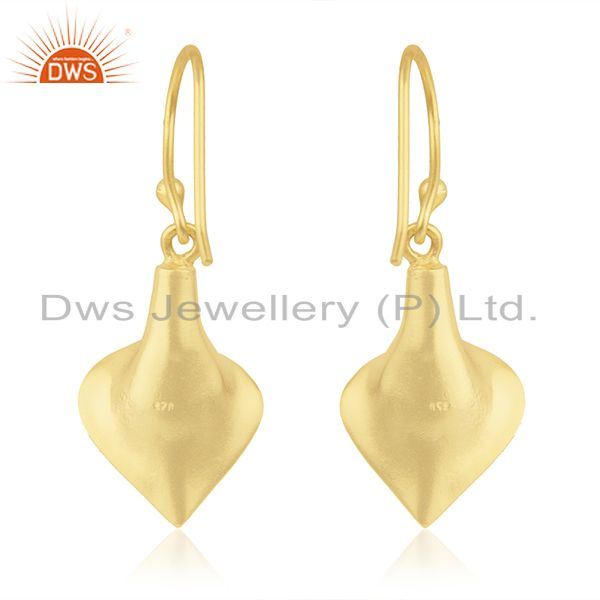 Suppliers 18k Yellow Gold Plated Sterling Silver Fashion Charming Gift Labradorite Earring