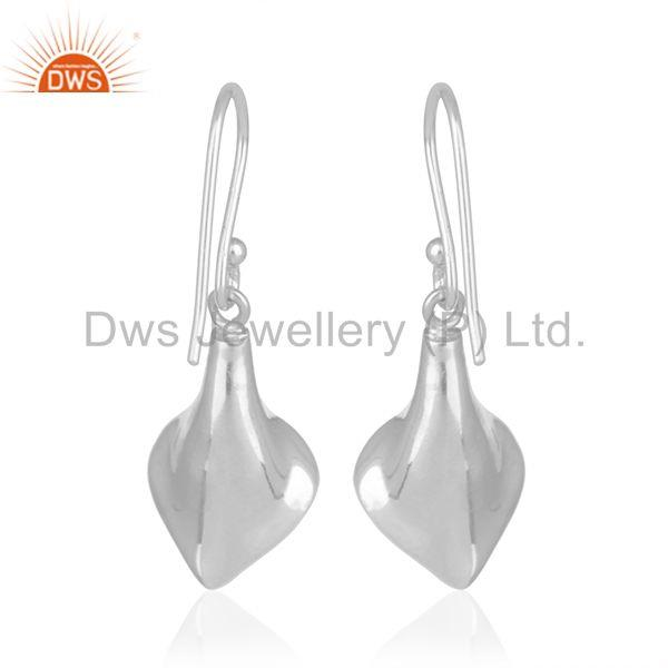Suppliers Floral Design Sterling 92.5 Silver Carnlian Gemstone Earring Wholesale Suppliers
