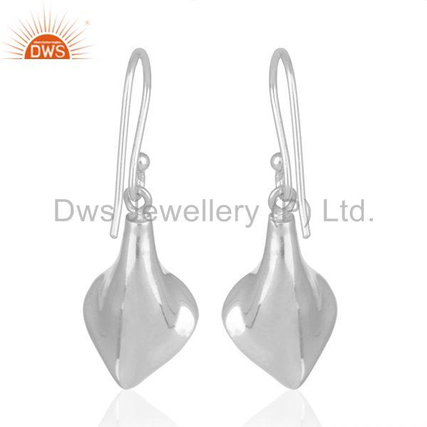 Suppliers Floral Design Silver Onyx Gemstone Custom Design Earring Jewelry Manufacturers