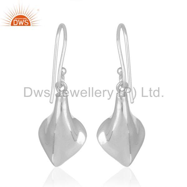 Suppliers Onyx Gemstone Floral Design Silver Private Label Earring Jewelry Manufacturer