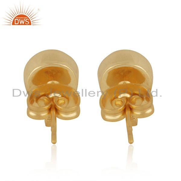 Suppliers Gold Plated Brass Jewelry Findings Manufacturer of Moonstone Earrings