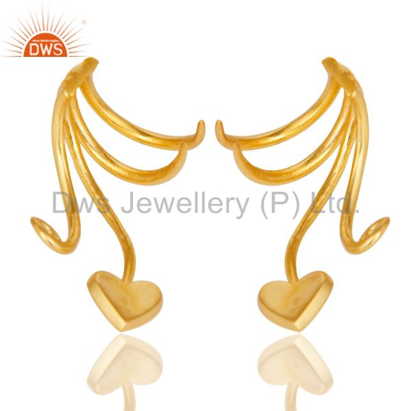 Suppliers Traditional Handmade Art Brass Earrings Jewellery With 18K Gold Plated