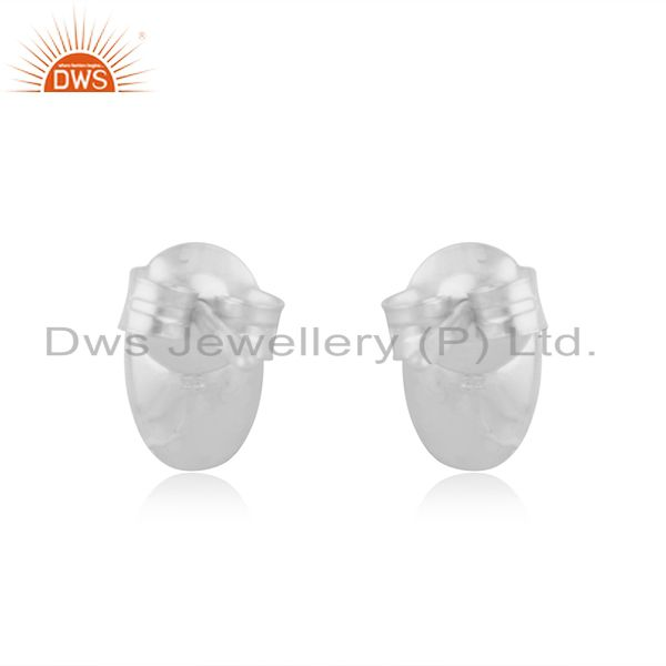 Suppliers Handmade Solid 925 Sterling Silver Rough Design Studs Earrings Jewelry