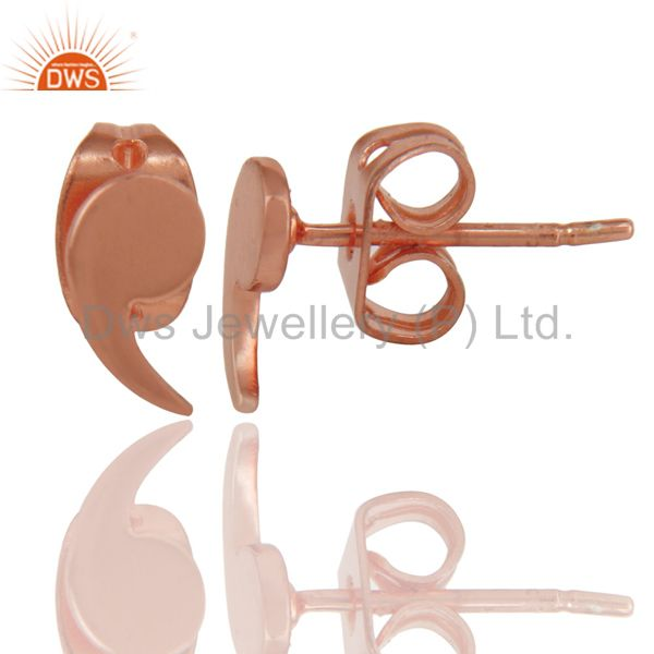Suppliers 18K Rose Gold Plated Sterling Silver Little Fashion Design Studs Earrings