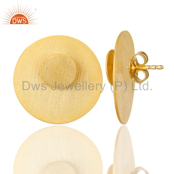 Suppliers 14K Gold Plated 925 Sterling Silver Handmade Double Way Jacket Studs Earrings