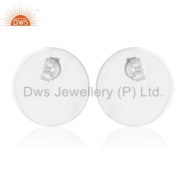Suppliers Handmade 925 Silver Crystal Quartz Girls Stud Earrings Manufacturer from India