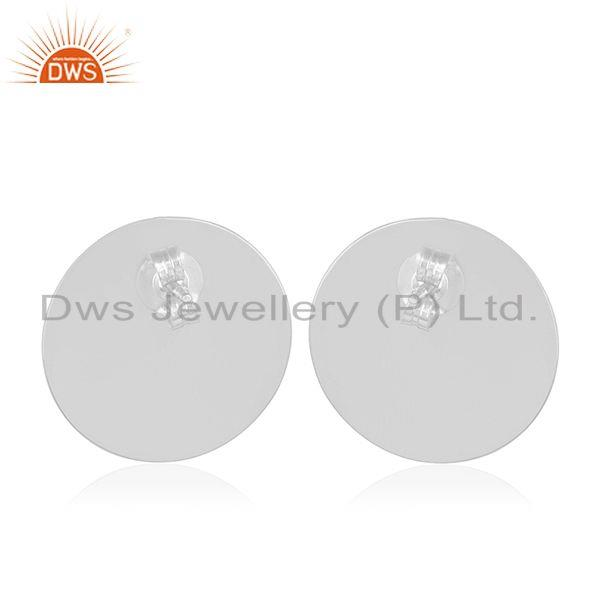 Suppliers Smoky Quartz Gemstone Round 925 Silver Girls Stud Earrings Wholesale Suppliers