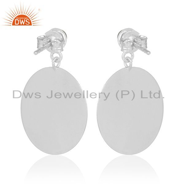 Suppliers Handmade 925 Silver Blue Chalcedony Gemstone Earrings Wholesale Suppliers