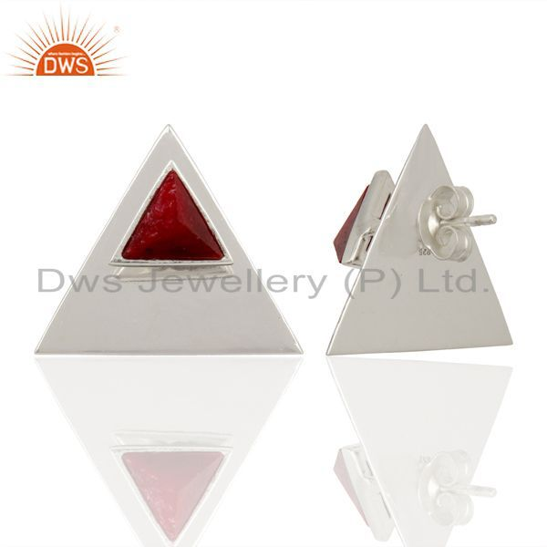 Suppliers Natural Ruby 925 Sterling Silver Earrings Gemstone Jewelry