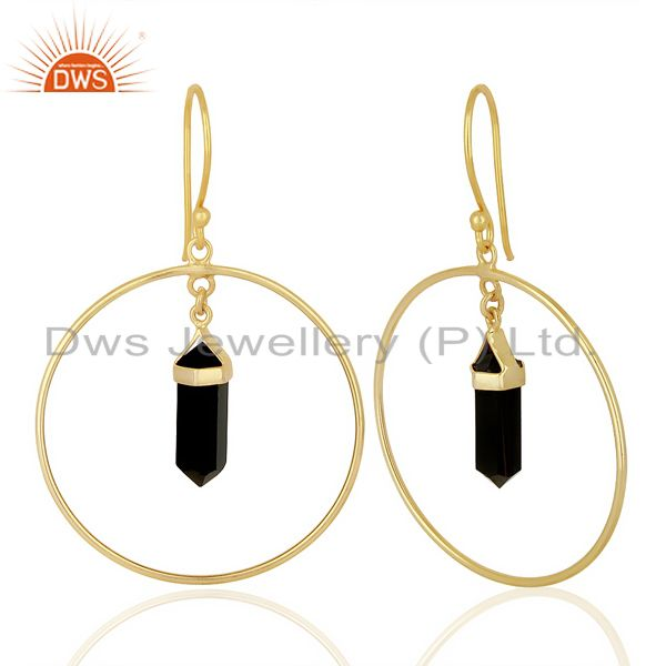 suppliers NaturalBlack Onyx earring