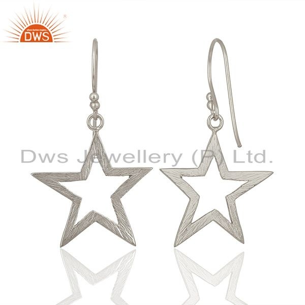Suppliers 925 Sterling Fine Silver Star Design Girls Earring Jewelry Manufacture