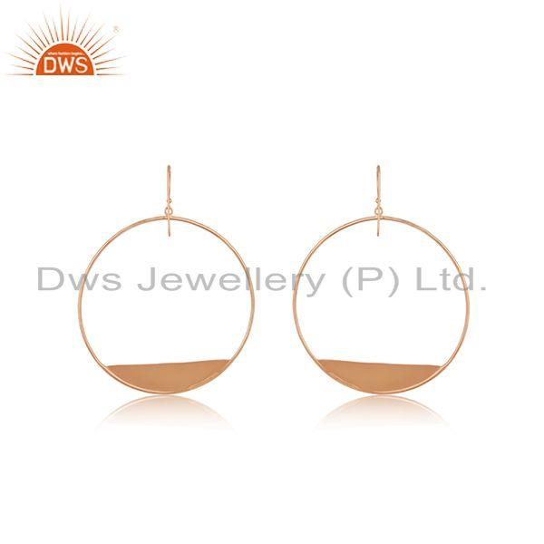 Suppliers 14k Rose Gold Plated 925 Silver Handmade Earrings Wholesale Suppliers