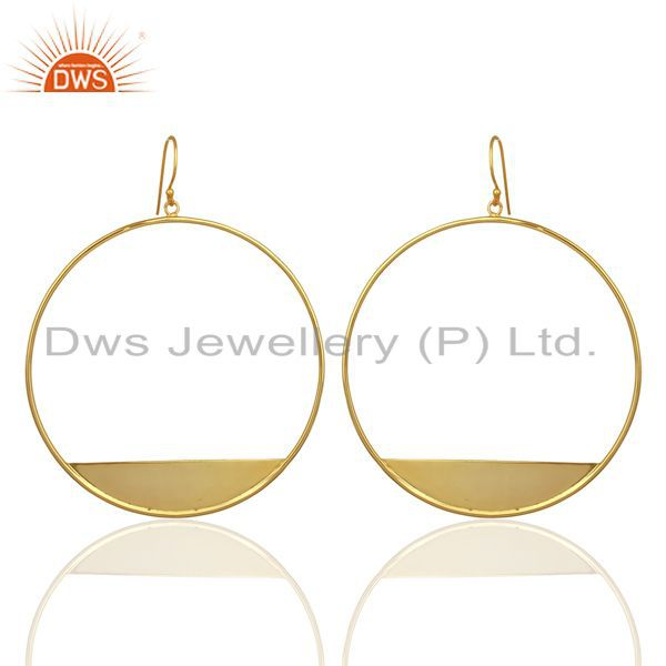 Suppliers Designer Gold Plated 925 Silver Womens Plain Silver Fashion Earrings