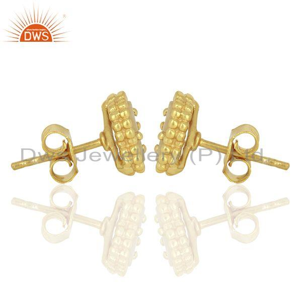 Suppliers Mother Of Pearl Clover Mini The Magic Motif Sterling Silver Gold Plated Earrings
