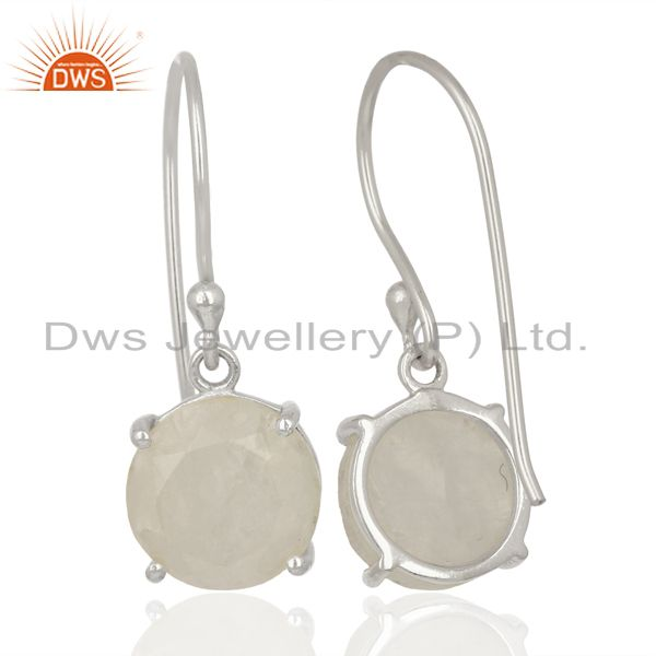 Suppliers Rainbow Flat Shape Pefect Drop High Finish Wholesale Sterling Silver Earrings