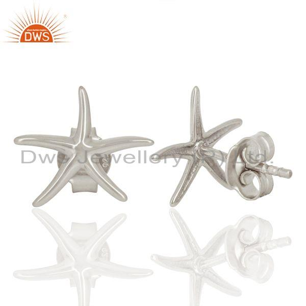 Suppliers Handmade 925 Sterling Silver Star Design Stud Earrings Manufacturer