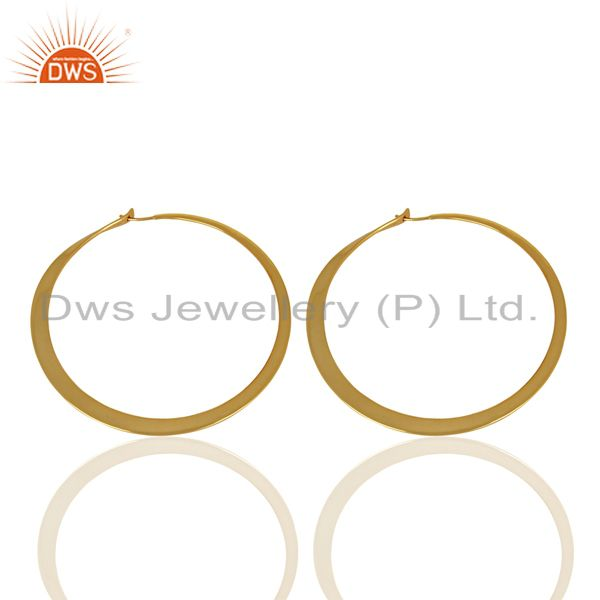 Suppliers Handmade Gold Plated 925 Silver Hoop Earrings Jewelry Manufacturer