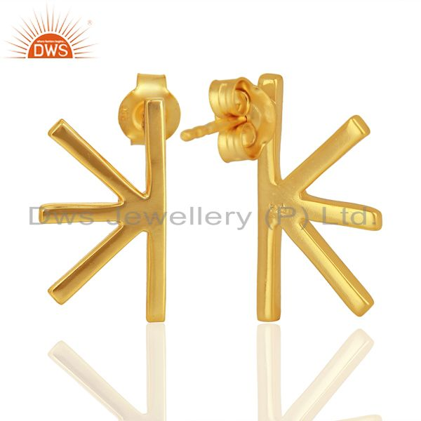 Suppliers Wholesale Handmade Gold Plated 925 Sterling Silver Designer Earrings