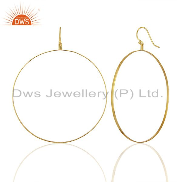 Suppliers Gold Plated Circal Design Silver Girls Earring Jewelry Manufacturer