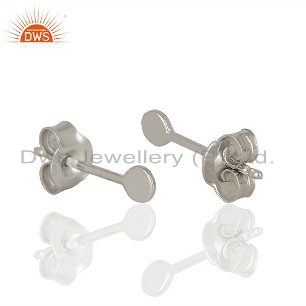 Suppliers Unique Sterling Fine Silver Girls Stud Earrings Jewelry Manufacturer
