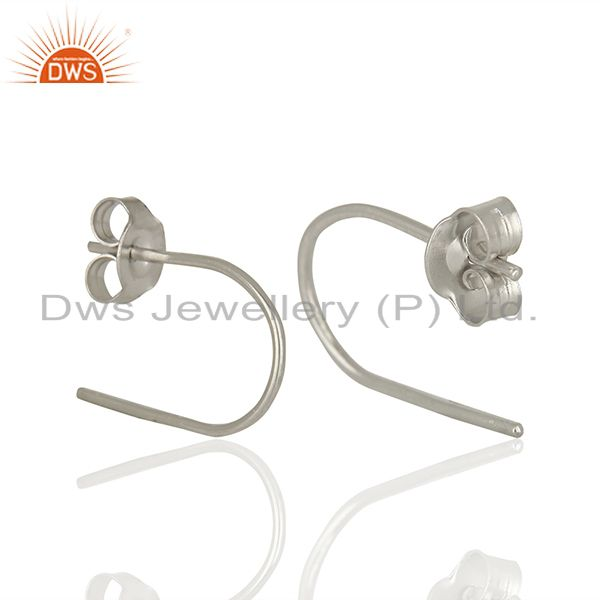 Suppliers New Design Sterling Fine Silver Handmade Earrings Jewelry Wholesale