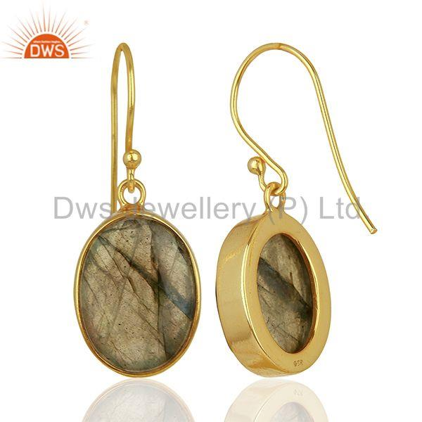 Suppliers Labradorite Gemstone Gold Plated Silver Earrings Manufacturer Supplier