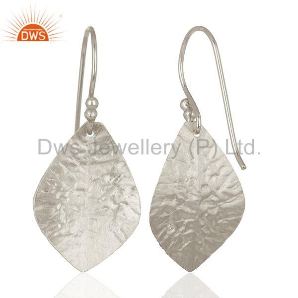 Suppliers 925 Sterling Fine Silver Textured Plain Silver Earrings Manufacturer