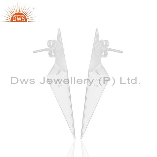 Suppliers Solid Plain 92.5 Sterling Silver Designer Customized Earring Wholesale