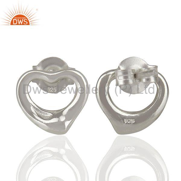 Suppliers Open Heart 925 Sterling Silver Stud Earring Wholesale Jewelry