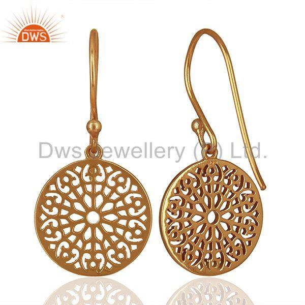 Suppliers Round Gardens Inspired 92.5 Sterling Silver Rose Gold Plated Earring