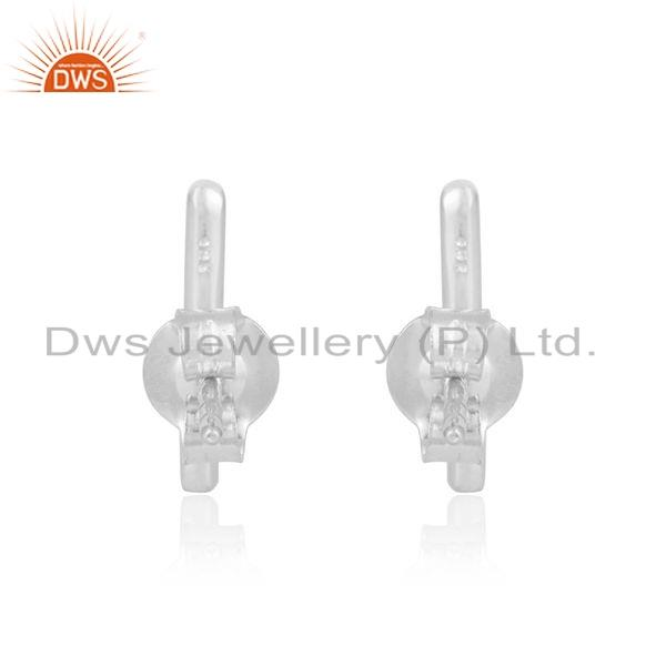 Suppliers 925 Sterling Fine Silver Hadnamde Art Design Stud Earrings Jewelry
