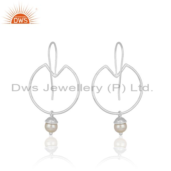 Suppliers Natural Pearl 925 Sterling Fine Silver Handmade Earring Jewelry Wholesale India