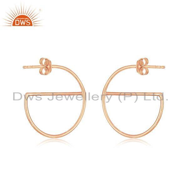 Suppliers Handmade Rose Gold Plated Silver Earrings For Girls Jewelry