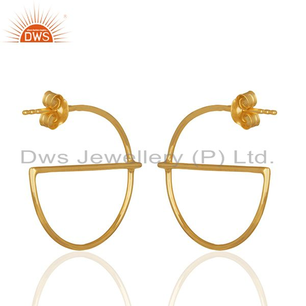 Suppliers Small e Design 925 Sterling Silver Gold Plated Earrings Wholesale