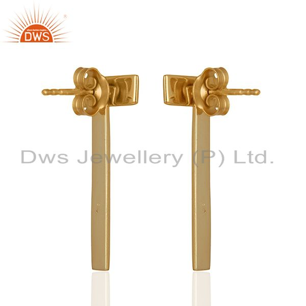 Suppliers Handmade 92.5 Sterling Silver Gold Plated Earrings Jewellery Wholesale