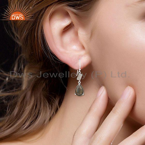 Suppliers Labradorite and Moonstone Rainbow 925 Silver Earrings Manufacturers