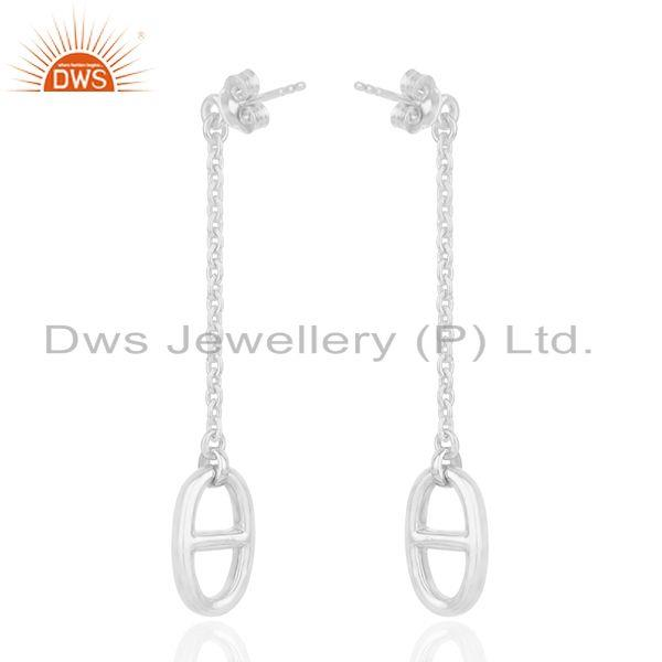 Suppliers Solid 925 Sterling Silver Chain Earrings Custom Jewelry Manufacturers