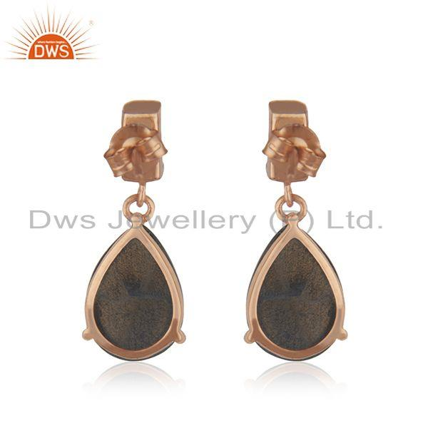 Suppliers Handmade 925 Silver Gold Plated Natural Multi Gemstone Earrings Manufacturer