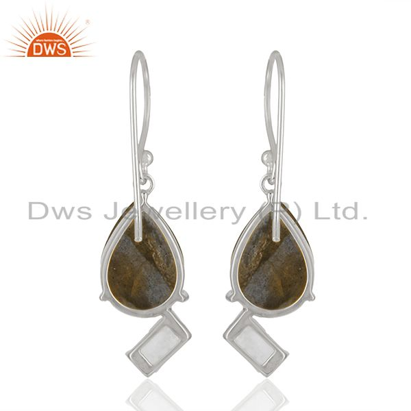 Suppliers Designer 925 Sterling Silver Multi Gemstone Drop Earrings Wholesale