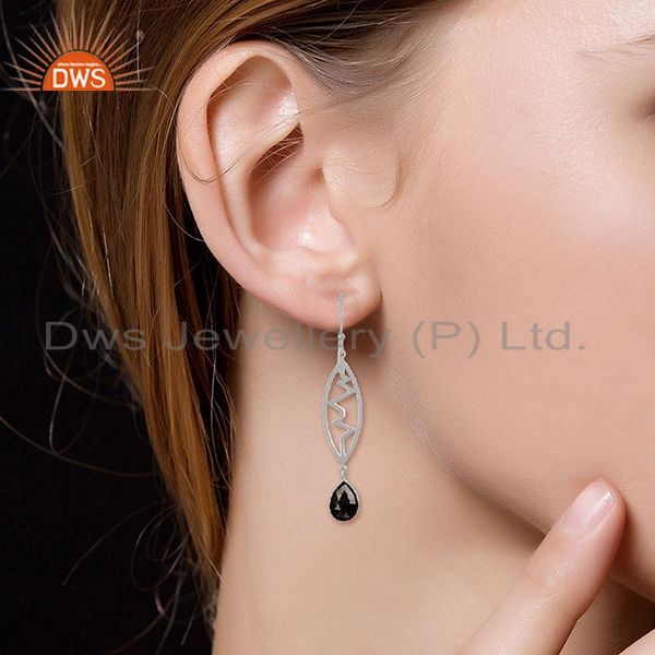 Suppliers Hematite Heartbeat Collection Sterling Silver Earring