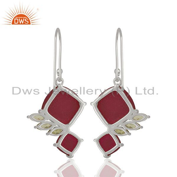Suppliers Handmade 925 Silver Multi Gemstone Girls Earrings Jewelry Wholesale