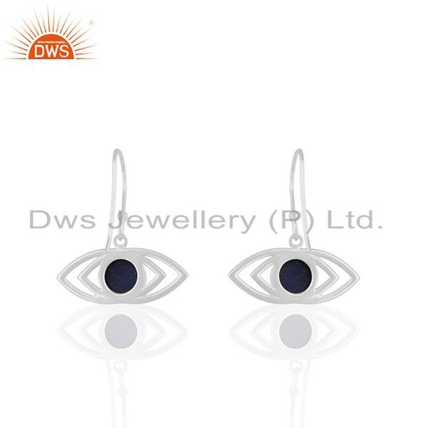 Suppliers Sterling 92.5 Silver Natural Lapis Lazuli Gemstone Earrings Supplier
