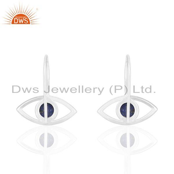 Suppliers 925 Silver Evil Eye Lapis Lazuli Gemstone Earrings Manufacturers
