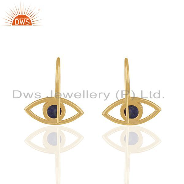 Suppliers 14k Gold Plated 925 Sterling Silver Natural Gemstone Earrings Supplier