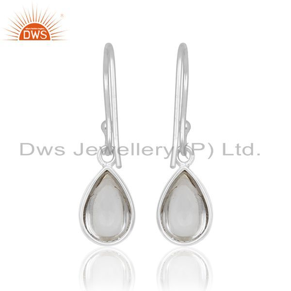Suppliers Simple Design 925 Silver Crystal Girls Earrings Manufacturer from Jaipur