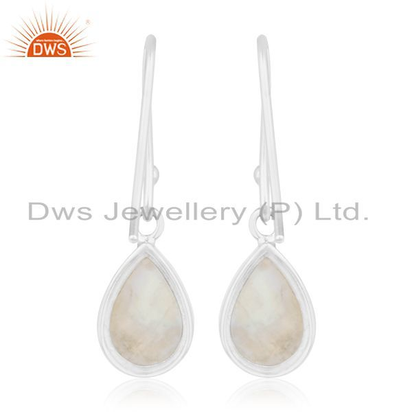 Suppliers Rainbow Moonstone Sterling Silver Private Label Earring Jewelry Manufacturer