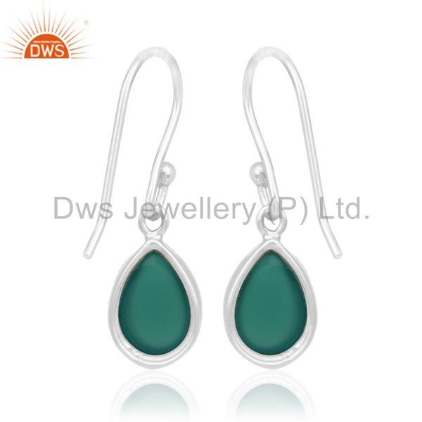 Suppliers Green Onyx Gemstone 92.5 Silver Private Label Earring Manufacturer India
