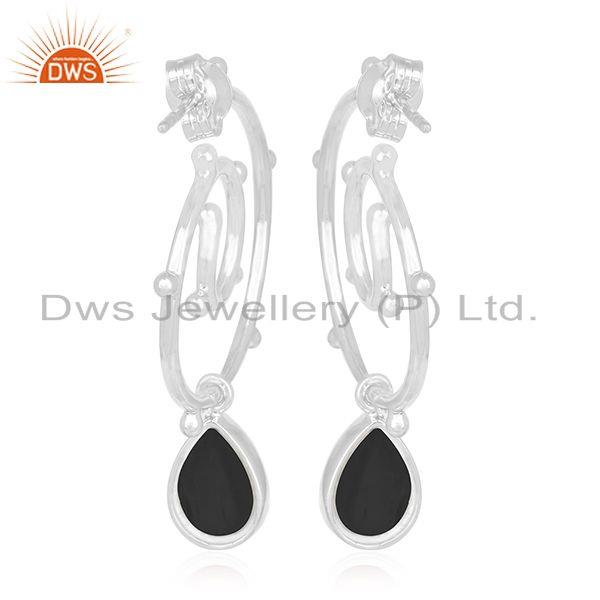 Suppliers Onyx Black Gemstone Sterling Silver Custom Earring Jewelry Manufacturers