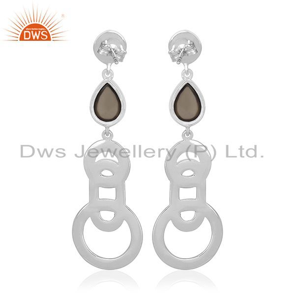 Suppliers Buy 925 Sterling Silver Smoky Quartz Designer Earring Jewelry for Girl