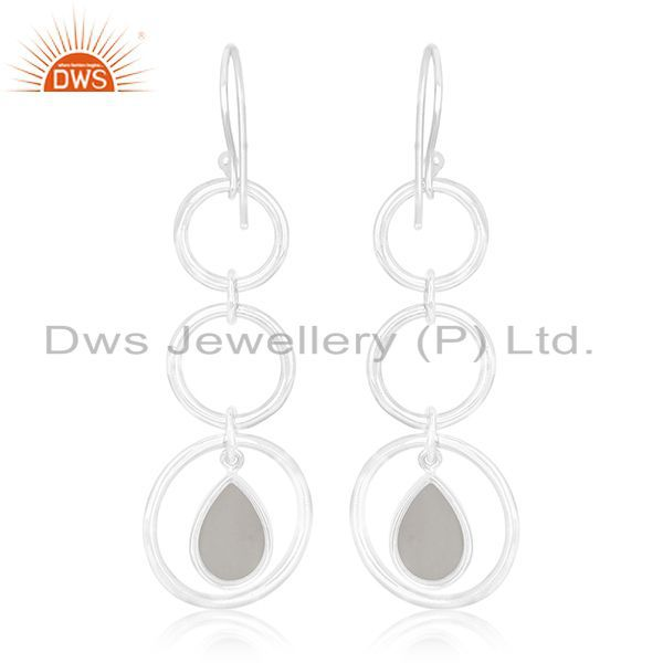 Suppliers Crystal Quartz Private Label Sterling Silver Earring jewelry Manufacturers